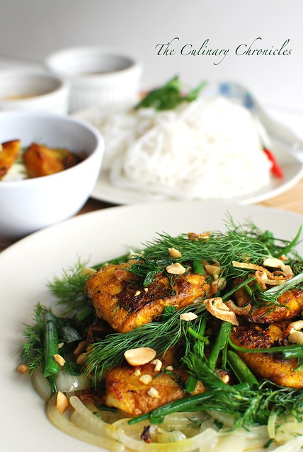 Cha Cá Thang Long (Vietnamese Style Fish with Tumeric & Dill)