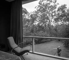 Grasshopper (Chimay Bleue) Tags: bw white black rose architecture mono design bedroom chair view harry australia monochromatic architect nsw grasshopper saarinen wahroonga seidler