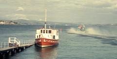 Hovercraft departs Rothesay (1965) (Robert G Henderson (Romari).) Tags: boats scotland rothesay isleofbute
