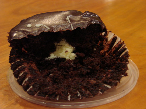 Inside Cream Filled Cupcake