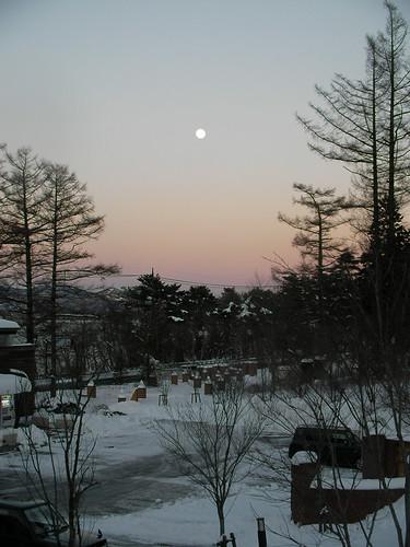 moon & snow