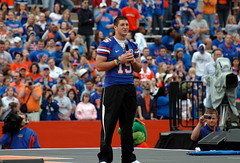 Tim Tebow  -  From The Heart (gatorgalpics) Tags: florida universityofflorida gainesville fl 2009 uf gainesvillefl floridafield fromtheheart nationalchampionshipcelebration timtebow imcomingback