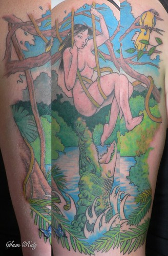 Jungle girl Tattoo Finished. Finished today, skin tone will settle down when
