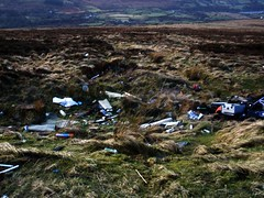 Some idiots had dumped their rubbish in one of the most scenic spots of Ireland..