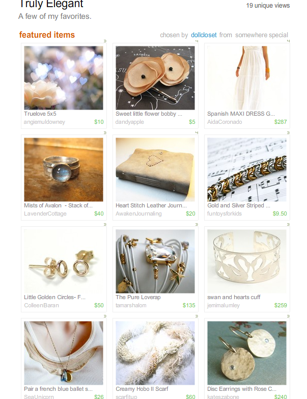 Truly Elegant Treasury by Dollcloset