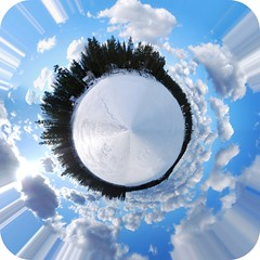 360 Panorama - Clear Lake, Michigan (zebra.paperclip) Tags: grandma trees winter sky panorama house lake snow ice clouds forest frozen nikon chelsea michigan rally 360 bluesky 2nd clearlake zebra planet snowing polar february middle 2009 stitched coordinates paperclip compilation d60 cs3 snodrift 360pan zebrapaperclip