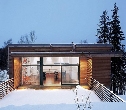 Minimalist House Design: Modern Minimalist Snow House Design by RB ...