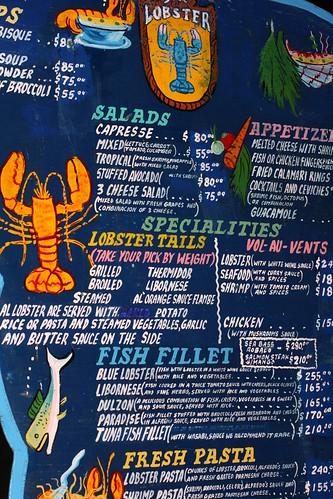 Blue Lobster Menu 1