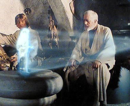 Un holograma en la Guerra de las Galaxias
