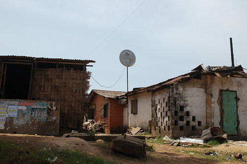 A TV antenna in Monrovia, Liberia