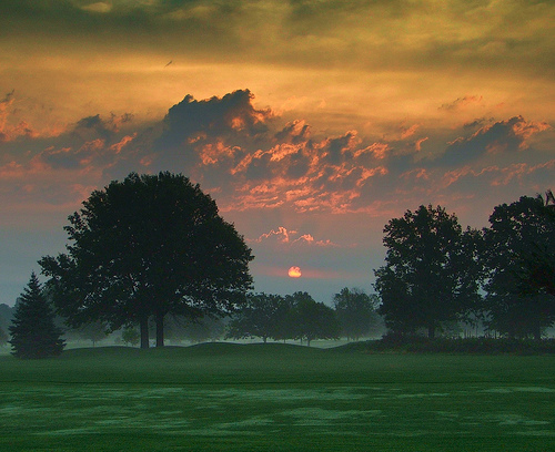 Rackham Golf Course @ Dawn.  Credit:  DaddyNewt via Flickr.