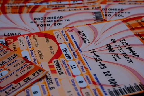 Boletos Radiohead @ Foro Sol
