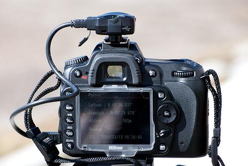 Nikon D90 GPS view
