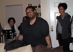 the many poses of derrick (_cheryl) Tags: friends dinner sxsw overheard erica derrick tiffany rpm offcampus antb sxsw2009 sxsw09 sxswi09 sxswoffcampus isthatmydrank