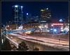 When Downtown came Uptown to You (Dave the Haligonian) Tags: city nightphotography copyright canada lights downtown novascotia headlights lighttrails halifax tailights pedway purdyswharf sigma2470mm nikond90 dsc7150 davidsaunders davethehaligonian whendowntowncameuptowntoyou