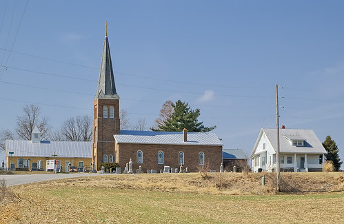Saint Matthew Lutheran Church, in Brussels, Calhoun County, Illinois, USA