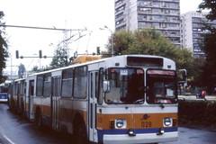 Dobrich ZIU-9 Trolleybus  Nr. 028, Bulgaria  October 1993 (sludgegulper) Tags: bulgaria trolleybus dobrich bulgarien obus  oberleitungsbus tolbukhin ziu9   bazargic 682 ziu682b