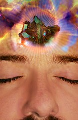 Astral Projection (James Edward Creamer) Tags: selfportrait male me eyelashes crystal nebula eyebrows astralprojection nebulae quarts titaniumplated