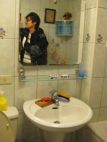 原本廁所的鏡子