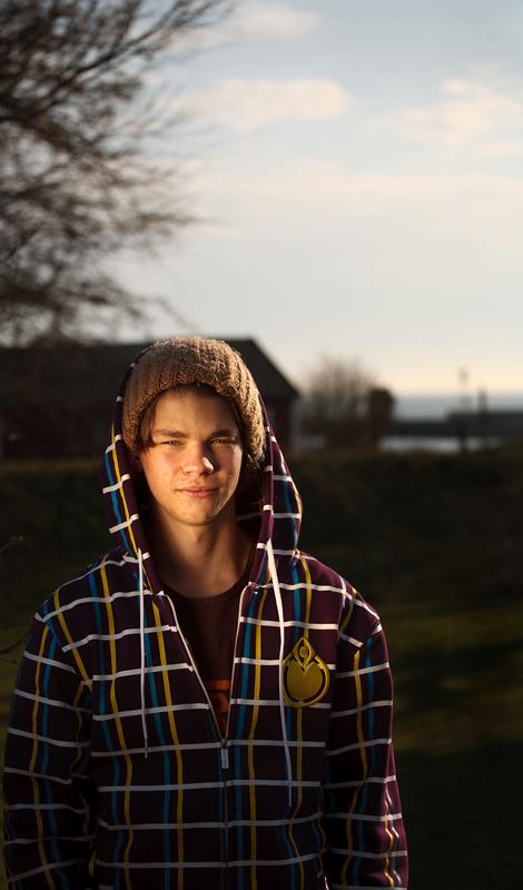 Frederik in new hoodie