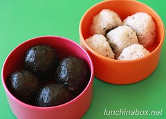 Rice balls in small Vivo tiffin set