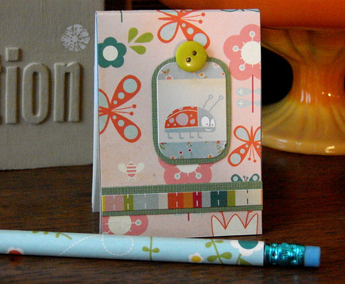 Altered Notebook and Pencil Set