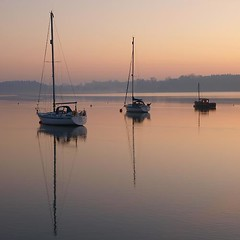Deben 127 Waldringfield (barrycross) Tags: uk reflection water sunrise dawn boat suffolk spring flickr yacht calm bouy equinox dinghy moorings riverdeben barrycross easternlightphotography barrycrossphotography wwwbarrycrossphotographycom