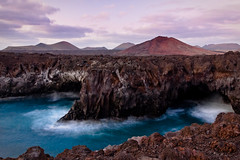 Lava Coast (andywon) Tags: travel sunset sea vacation nature water landscape lava coast rocks waves postcard lanzarote canaryislands loshervideros explored