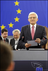M. Jerzy Buzek, the new elected President of the European Parliament, during his first speech as president in Strasbourg, Tuesday 14 July 2009