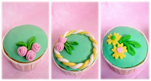 my 1st fondant cupcake