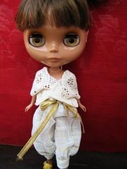 Handmade lace and buldan fabric