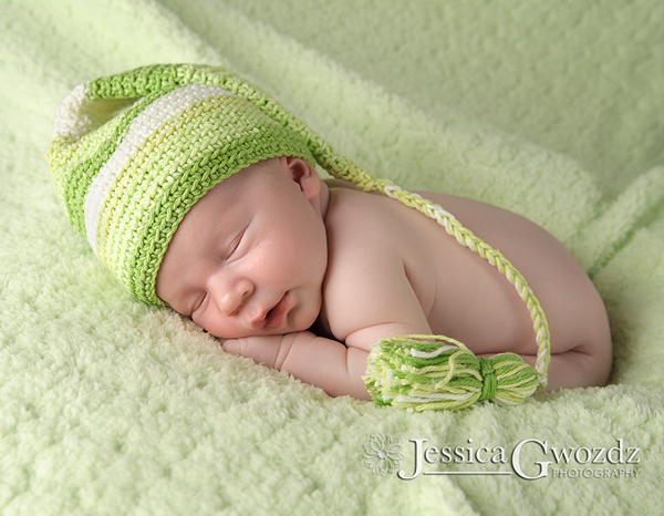 Newborn with Elf Hat
