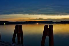 Sunset (Cezary Borysiuk) Tags: city longexposure sunset sky lake night dusk olsztyn warmia jezioro niebo zachódsłońca ukiel lakeukiel krzywelake jeziorokrzywe jezioroukiel