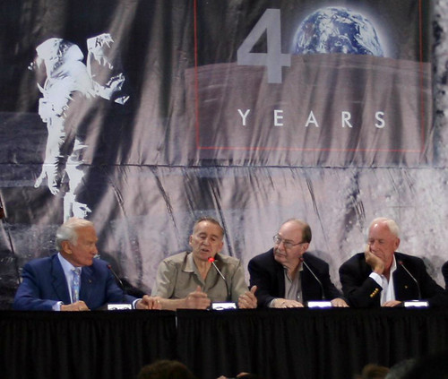 Apollo 11 40th Anniversary Gathering of Astronauts at Kennedy Space Center - Buzz Aldrin, Walt Cunningham, Edgar Mitchell, Al Worden