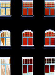 a view with windows (Dieter Drescher) Tags: blue windows red black rot photoshop view distorted fenster 9 manipulation blau aussicht schwarz falsecolours verfremdet falschfarben dieterdrescher