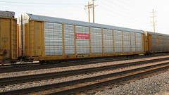 A Canadian Pacific auto rack in transit. Franklin Park Illinois. Thursday, June 18th 2009.