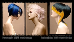 Hair Color NAHA Awards (BABAK photography) Tags: blue black color colour film beauty yellow hair polaroid photography cut style winner 4x5 babak awards bangs naha haircolor colorist fashionphotographer wwwbabakca northamericanhairstylingawards photographerbabak nahacolor babaked adrianabalea
