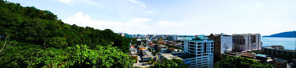 Panoramic View Of Kota Kinabalu City