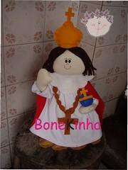 Menino Jesus de Praga (Bonekinha - Lembranas Artesanais Personalizadas) Tags: boneco do amarelo bahia turma feltro santo sitio tecido picapau