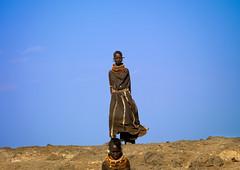 Turkana girls on blue sky - Kenya (Eric Lafforgue) Tags: africa people beads kenya african culture tribal tribes bead afrika tradition tribe ethnic kenia tribo afrique ethnology tribu eastafrica rift beadednecklace qunia 2489 lafforgue ethnie  qunia    beadsnecklace kea   africa east  a