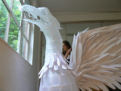 Phoenix in the studio (polyscene) Tags: sculpture art paperart polly poly verity papersculpture polyscene pollyverity papersculptures