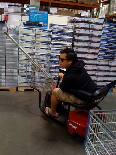 scooting around costco