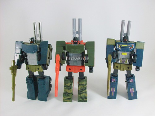 Transformers Onslaught G1 Encore vs G1 vs RID Mega Octane - modo