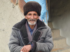 Old man in the village. Xınalıq, Azerbaijan.