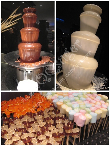 你拍攝的 巧克力噴泉。