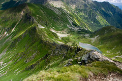 Route through the summits (P.Sobczyk (away)) Tags: blue light shadow summer sky white clouds landscape pond rocks view path stones poland route trail edge summit hillside picks tatry