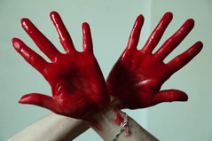 Les mains sales-23 (metatong) Tags: red color painting rouge blood hands acrylic hand main peinture killer murder dexter sang mains guilty murderer coupable acrylique tueur d300 redpaint meurtre meurtrier peinturerouge