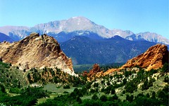 just a mountain (spysgrandson) Tags: mountain landscape colorado sony scenic gardenofthegods coloradosprings pikespeak sonycybershot spysgrandson 071609
