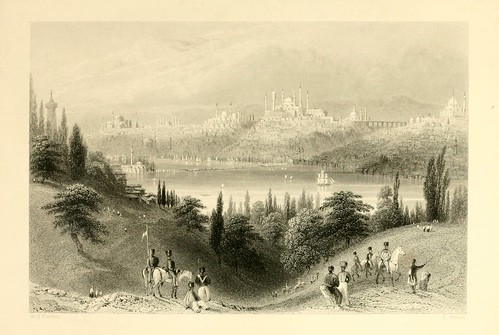 016- Vista desde Ocmeidan-Las bellezas del Bosforo 1838-W.H. Bartlett