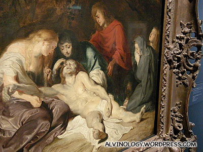 Peter Paul Rubens (1577-1640): Lamentation over the Dead Christ - the most expensive piece on exhibit
